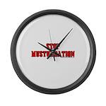 Stop Musturbation Large Wall Clock