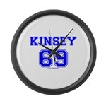 Kinsey Jersey Large Wall Clock