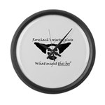 Rorschachs Rejected Plate 5 Large Wall Clock