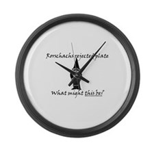 Rorschachs Rejected Plate 3 Large Wall Clock
