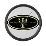 Psych Logo 1 Large Wall Clock