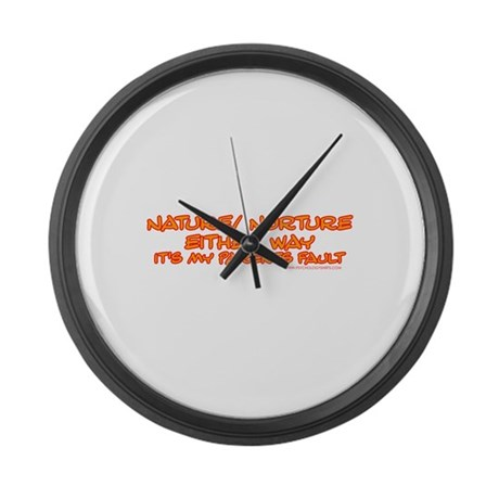 My Parents Fault Large Wall Clock