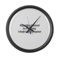 I'm Looking Forward To A Memo Large Wall Clock