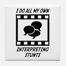 Interpreting Stunts Tile Coaster