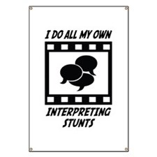 Interpreting Stunts Banner