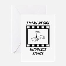 Insurance Stunts Greeting Card