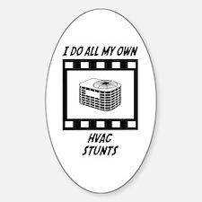 HVAC Stunts Oval Decal