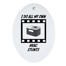 HVAC Stunts Oval Ornament