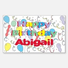Happy Birthday Abigail Rectangle Decal