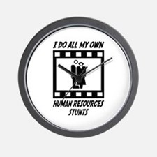 Human Resources Stunts Wall Clock