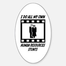 Human Resources Stunts Oval Decal