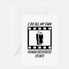 Human Resources Stunts Greeting Card