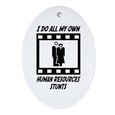 Human Resources Stunts Oval Ornament