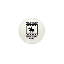 Horse Riding Stunts Mini Button (10 pack)