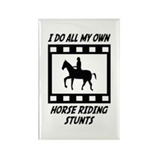 Horse Riding Stunts Rectangle Magnet