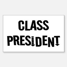"Class President ""Label Me"" Rectangle Decal"
