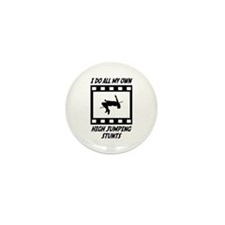 High Jumping Stunts Mini Button (10 pack)