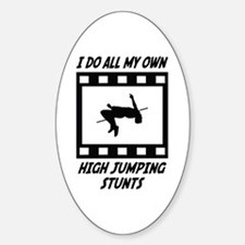 High Jumping Stunts Oval Decal