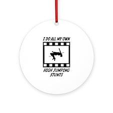High Jumping Stunts Ornament (Round)