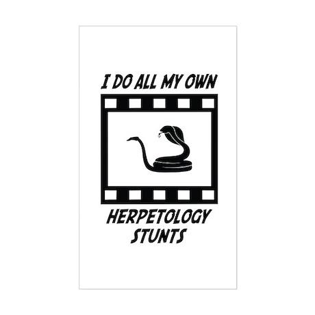 Herpetology Stunts Rectangle Sticker