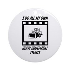 Heavy Equipment Stunts Ornament (Round)