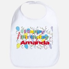 Happy Birthday Amanda Bib