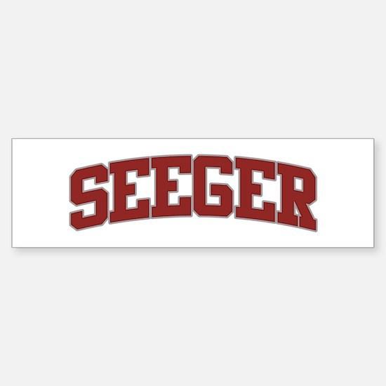 SEEGER Design Bumper Bumper Bumper Sticker