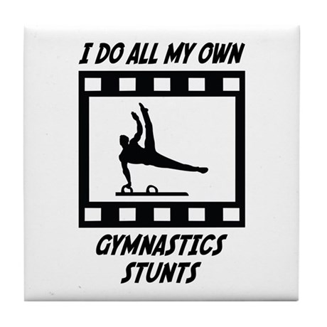 Gymnastics Stunts Tile Coaster