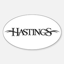 Hastings Oval Decal
