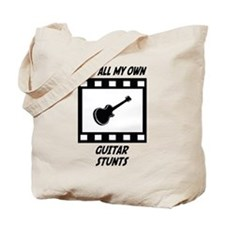 Guitar Stunts Tote Bag