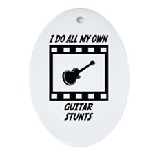 Guitar Stunts Oval Ornament