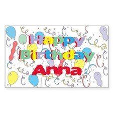 Happy Birthday Anna Rectangle Decal