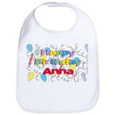 Happy Birthday Anna Bib