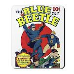 Classic Blue Beetle & Sparky Mousepad