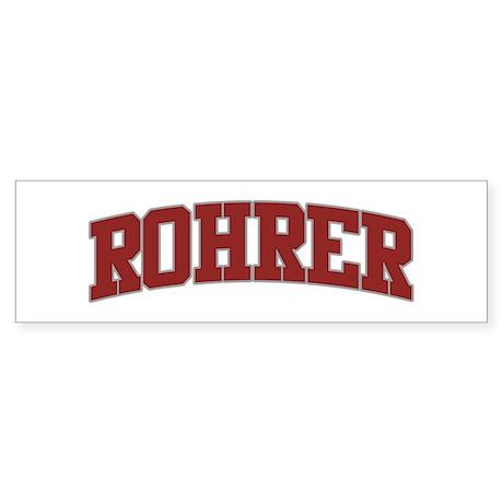 ROHRER Design Bumper Sticker