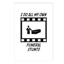 Funeral Stunts Postcards (Package of 8)