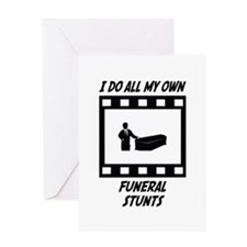 Funeral Stunts Greeting Card
