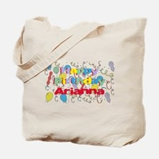 Happy Birthday Arianna Tote Bag