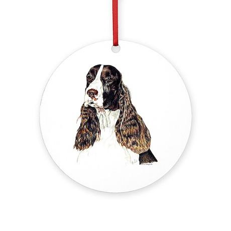 Springer Spaniel Portrait Keepsake (Round)