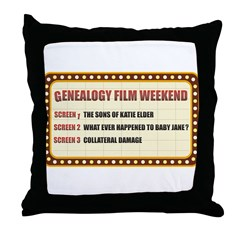 Film Weekend Throw Pillow