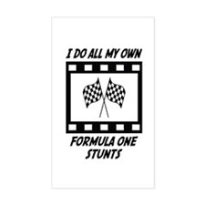 Formula One Stunts Rectangle Decal