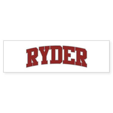RYDER Design Bumper Sticker