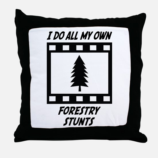 Forestry Stunts Throw Pillow