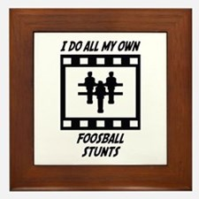 Foosball Stunts Framed Tile