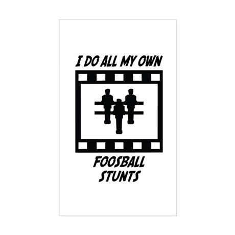 Foosball Stunts Rectangle Sticker