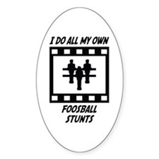 Foosball Stunts Oval Decal