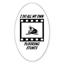 Flooring Stunts Oval Decal