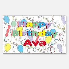 Happy Birthday Ava Rectangle Decal