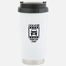 Fixing Cars Stunts Travel Mug