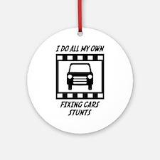 Fixing Cars Stunts Ornament (Round)